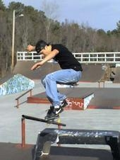 Chance Gott getting some air on his Ron Jon Board