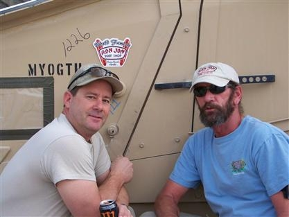 Andy and Mike in Kandahar 2011