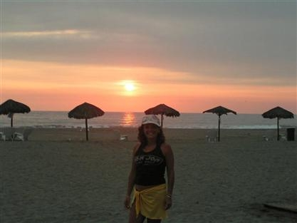 Claudia Salcedo - San Antonio Peru, South America. Enjoying a beautiful sunset!
