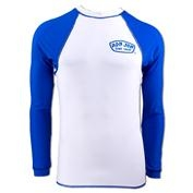 Ron Jon Mens Long Sleeve Rashguard - White / Blue