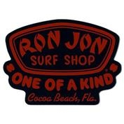 Ron Jon Chrome Badge Sticker