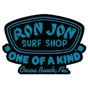 Ron Jon Blue Glitter Badge Logo Sticker