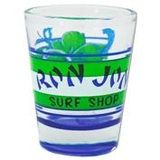 Ron Jon Blue 70's Artwork Shot Glass
