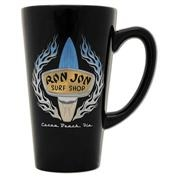 Ron Jon Chrome Flame Cafe Tapered Mug