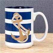 Ron Jon 15oz Anchor Mug - White