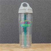 Ron Jon Turquoise Paint Splatter 24oz Water Bottle