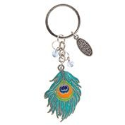 Ron Jon Peacock Beaded Keyring