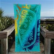 Ron Jon Neon Splash Towel - Sea Foam - 34