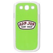 Ron Jon Samsung Galaxy III Hard Snap Clear Case - Green w/ Screen Protector