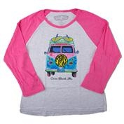 Ron Jon Girls Flower Power Bus Long Sleeve Tee
