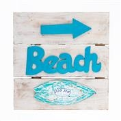 Ron Jon Beach Arrow Surfboard Sign