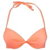 Ron Jon Ocean Avenue Push Up Orange Twist Bikini Top