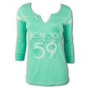 Ron Jon Junior 59 Palms Varsity Henley Tee - Cocoa Beach