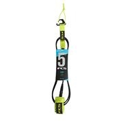 FCS 5' Comp Leash - Fluro Green