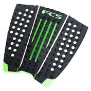 FCS Julian Wilson Traction Pad - Black/Hot Lime