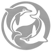 Inbloom Ying Yang Dolphins Sticker