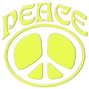 Inbloom Peace Sign Regular Sticker