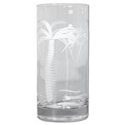 15 oz Etched Palm Tree Cooler Glass