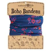Natural Life Boho Bandeau - Navy w/ Pink Flowers