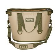 Yeti Hopper 30 Cooler - Tan/Orange