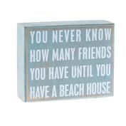 Beach House Friend Box Sign