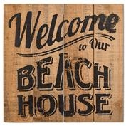 Welcome To Our Beach House Sign 12