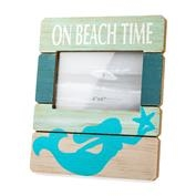 Wooden Beach Time Picture Frame