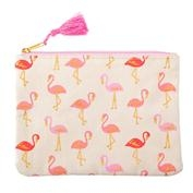 Flamingo Canvas Cosmetic Bag