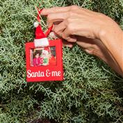 Santa Photo Frame Ornament - Santa & Me