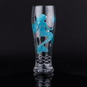 Mermaid Pilsner Glass - Blue