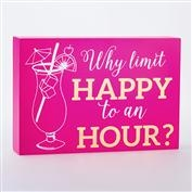 Happy Hour Box Sign - Limit