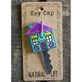 Natural Life Green Purple House Key Cap