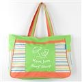 Ron Jon Sea Stripe Shoulder Tote - Lime