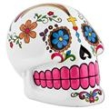Day Of The Dead Skull Bank - White