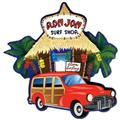 Ron Jon Woody and Beach Hut 2D Magnet
